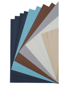 Remake Up-Cycled Matte/Fiber 8.5 x 11 Cardstock Variety Pack (18 colors / 4 each) - 72 PK