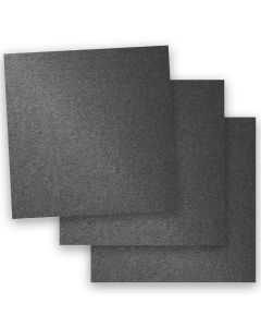 Stardream Metallic - 12X12 Card Stock Paper - ANTHRACITE - 105lb Cover (284gsm) - 35 PK
