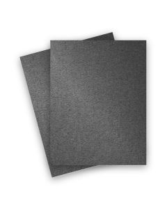 Stardream Metallic - 8.5X11 Card Stock Paper - ANTHRACITE - 105lb Cover (284gsm) - 25 PK