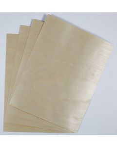 [Clearance] Crafters Wood Paper -  8.5 x 11 (12PT) BIRCH Veneer sheets with CREAM back - 10 PK