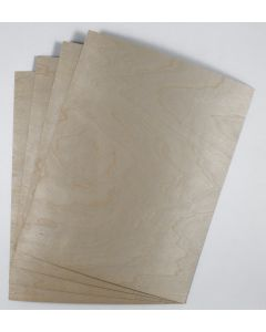 [Clearance] Crafters Wood Paper -  8.5 x 11 (16PT) BIRCH Veneer sheets with KRAFT back - 10 PK