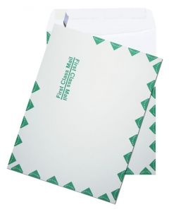 [Clearance] 9-1/2-X-12-1/2 First Class Catalog Envelopes - 28lb WHITE WOVE - Peel to Seal - (9.5 x 12.5) - 50 PK