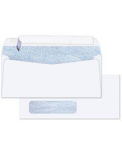 #10 WINDOW Envelopes - 24lb White Wove - Peel to Seal - Security Tint Blue (Side Seam) - 2500 PK