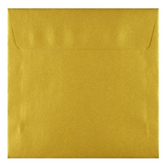 FAV Shimmer Premium Gold - 6.6 in (17X17cm) Square Envelopes (81T/Peel-Stick Flap) - 25 PK