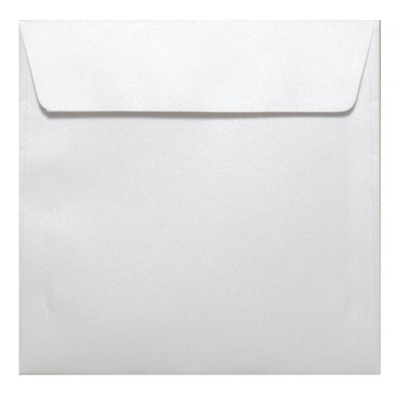 FAV Shimmer Pure Snow White - 6.6 in (17X17cm) Square Envelopes (81T/Peel-Stick Flap) - 25 PK