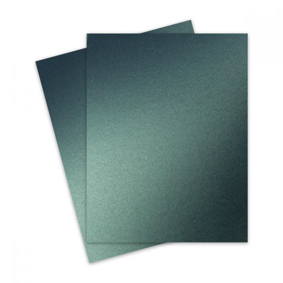 Shine MOSS Green - Shimmer Metallic Card Stock Paper - 8.5 x 11 - 107lb Cover (290gsm) - 25 PK [DFS]