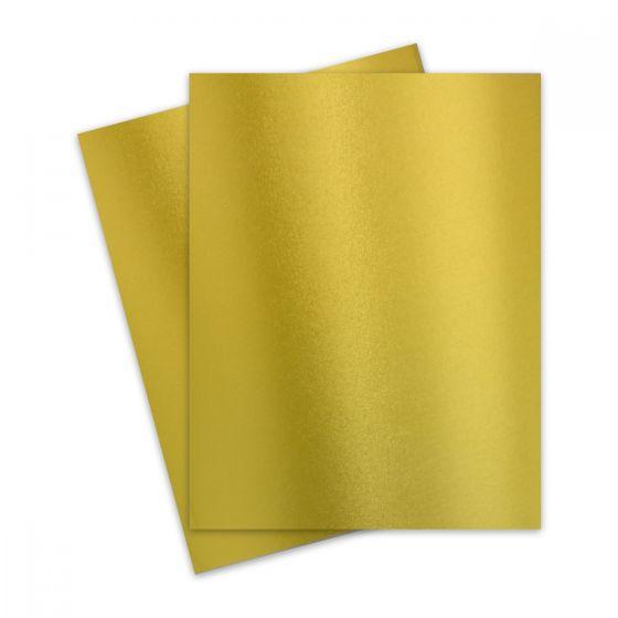 FAV Shimmer Premium Gold - 8.5 x 11 Card Stock Paper - 92lb Cover (250gsm) - 25 PK [DFS]