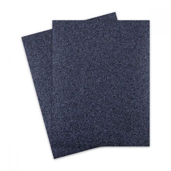Glitter Paper - Glitter BLACK-reflective hues (1-Sided) 8.5X11 Letter Size - 10 PK [DFS]