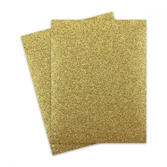 Glitter Paper - Glitter GOLD (1-Sided) 8.5X11 Letter Size - 10 PK