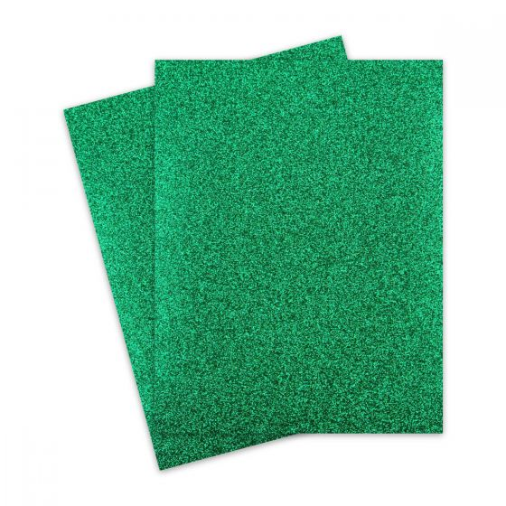 Glitter Paper - Glitter GREEN (1-Sided) 8.5X11 Letter Size - 10 PK
