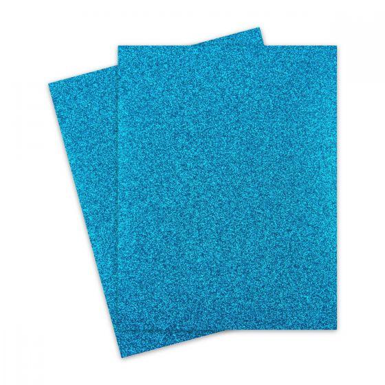 Glitter Paper - Glitter TEAL BLUE (1-Sided) 8.5X11 Letter Size - 10 PK [DFS]