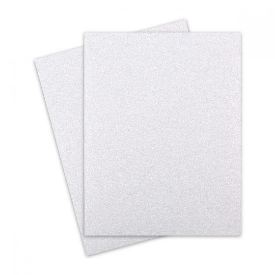 Glitter Paper - DIAMOND WHITE (1-Sided) 8-1/2-x-11 Letter Size Paper (12PT Offset) - 10 PK [DFS]