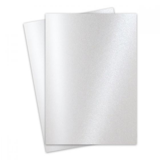 FAV Shimmer Pure Snow White - 8.5 x 14 Legal Size Card Stock Paper - 92lb Cover (250gsm) - 150 PK