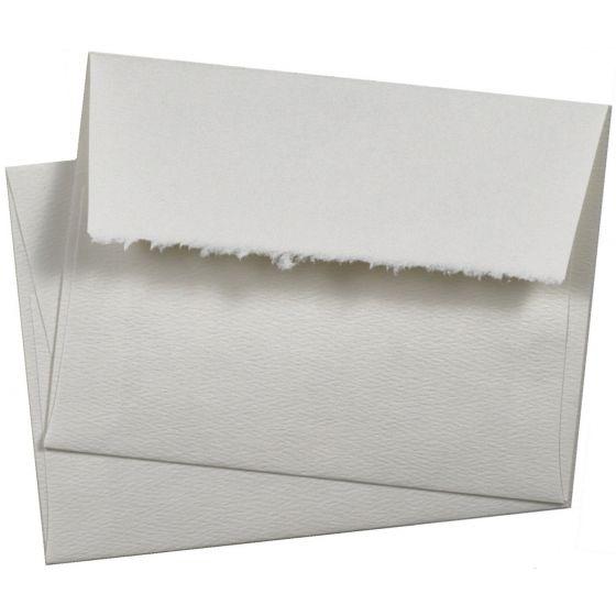 Deckled Edge A2 Soft White envelopes