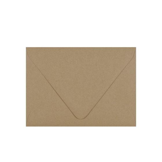 Light Rustic Kraft - A7 Euro Flap Envelopes 32/81lb Text (120gsm) - 25 PK