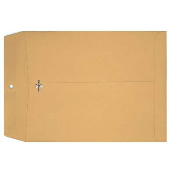 Clasp 12-X15-1/2 Catalog Envelopes - 28lb Brown Kraft - (12 x 15.5) - 500 PK