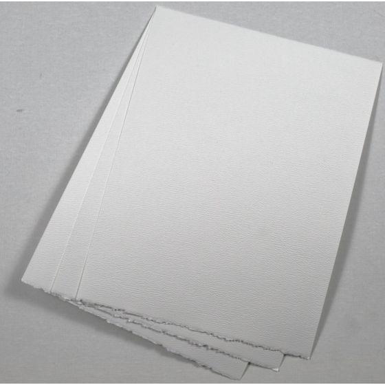 Bright White Deckled Edge Paper