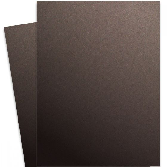 Curious Metallic - CHOCOLATE 27X39 Full Size Card Stock Paper 111lb Cover - 100 PK