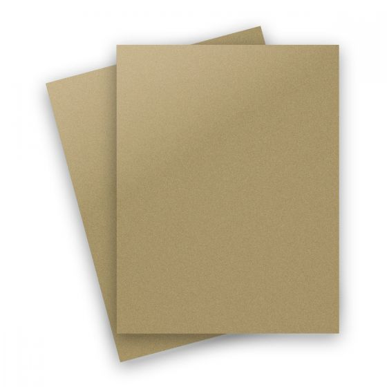 Curious Metallic - GOLD LEAF 8.5X11 Letter Size Card Stock Paper 92lb Cover - 25 PK