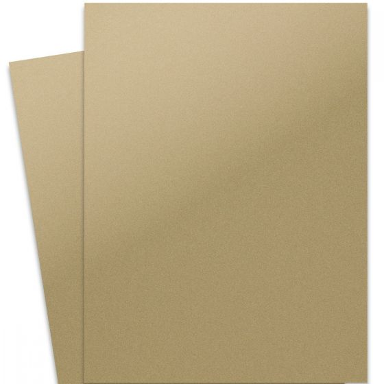 Curious Metallic - GOLD LEAF 27X39 Full Size Card Stock Paper 92lb Cover - 100 PK