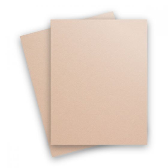 Curious Metallic - NUDE 8.5X11 Letter Size Card Stock Paper 111lb Cover - 25 PK