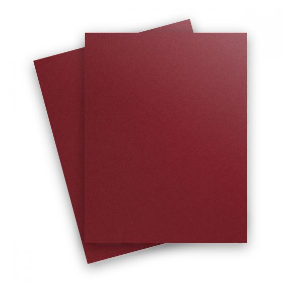 Curious Metallic - RED LACQUER 8.5X11 Letter Size Card Stock Paper 111lb Cover - 25 PK [DFS]