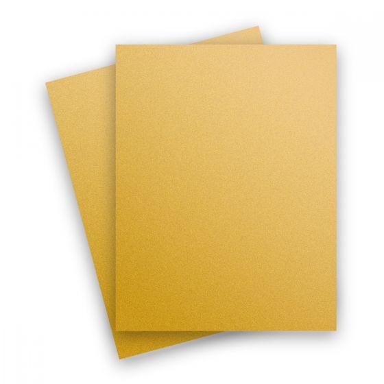 Curious Metallic - SUPER GOLD 8.5X11 Letter Size Card Stock Paper 111lb Cover - 25 PK [DFS]