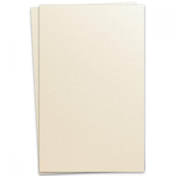 Curious Metallic - WHITE GOLD 12X18 Card Stock Paper 92lb Cover - 100 PK [DFS-48]
