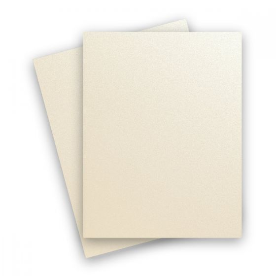 Curious Metallic - WHITE GOLD 8.5X11 Letter Size Card Stock Paper 92lb Cover - 25 PK