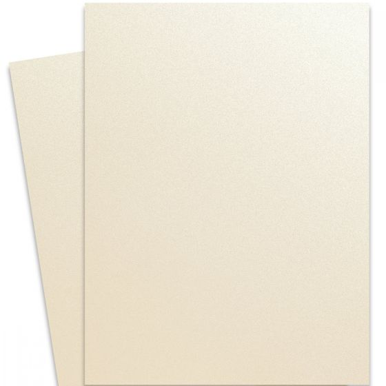 Curious Metallic - WHITE GOLD 27X39 Full Size Card Stock Paper 92lb Cover - 100 PK