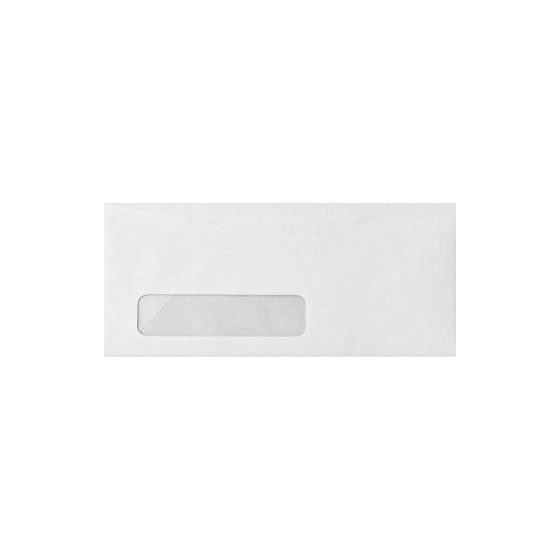 Mohawk Superfine Eggshell Ultrawhite - No. 10 Envelopes (24W/Commercial Flap/ POLY WINDOW) - 500 PK