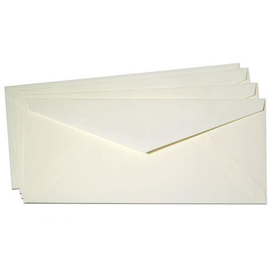 Cranes Crest (Wove) - NO. 10 Envelopes (POINTED FLAP) - 100% Cotton - Natural White - 500 PK