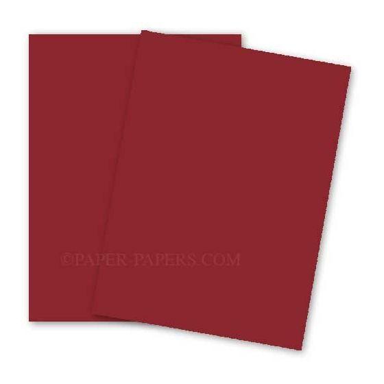 BASIS COLORS - 8.5 x 14 CARDSTOCK PAPER - Dark Red - 80LB COVER - 100 PK