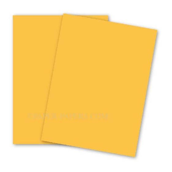 BASIS COLORS - 8.5 x 14 CARDSTOCK PAPER - Gold - 80LB COVER - 100 PK [DFS-48]