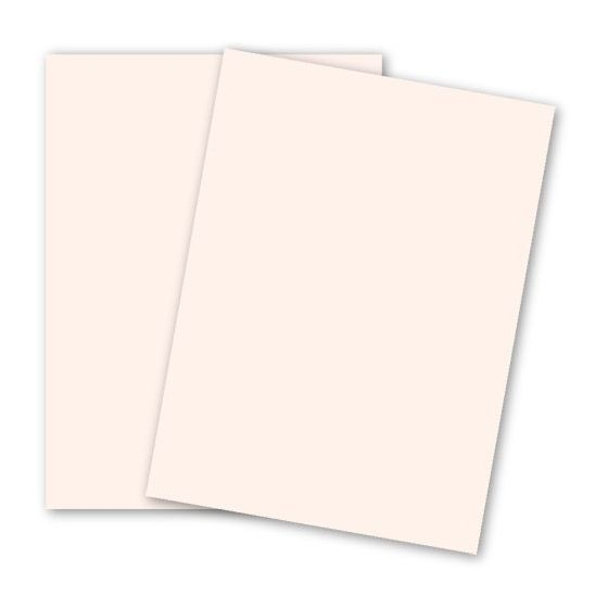 BASIS COLORS - 8.5 x 11 CARDSTOCK PAPER - Soft Pink - 80LB COVER - 100 PK