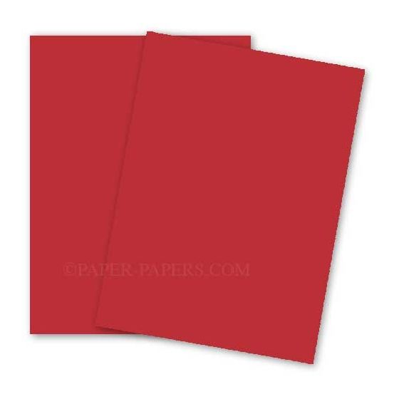 BASIS COLORS - 12 x 18 PAPER - Red - 28/70 TEXT - 200 PK