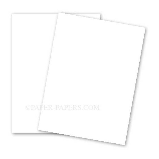 BASIS COLORS - 8.5 x 11 CARDSTOCK PAPER - White - 80LB COVER - 100 PK [DFS-48]