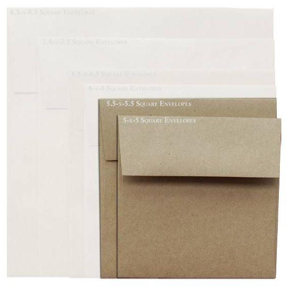 Brown Bag Envelopes - KRAFT - 5.5 in Square Envelopes - 800 PK