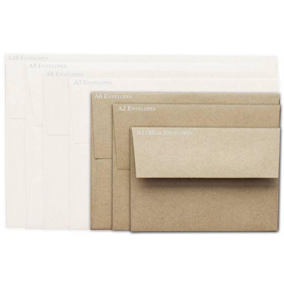 Brown Bag Envelopes - KRAFT - A6 Envelopes - 50 PK