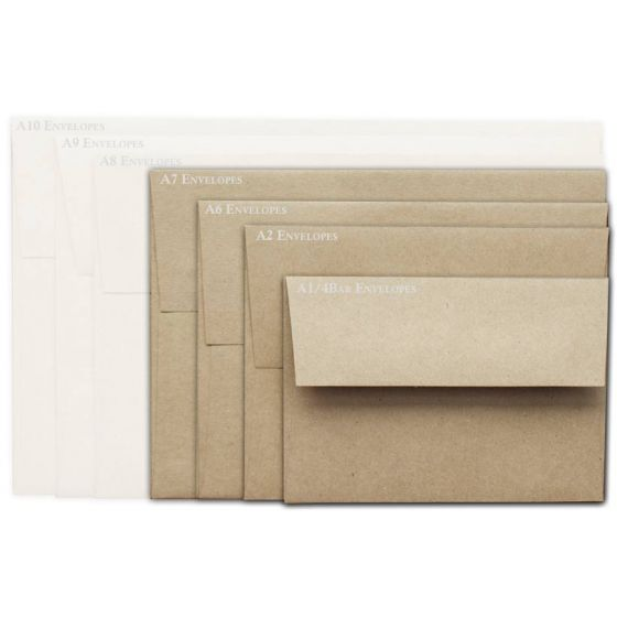 Brown Bag Envelopes - KRAFT - A7 Envelopes - 50 PK