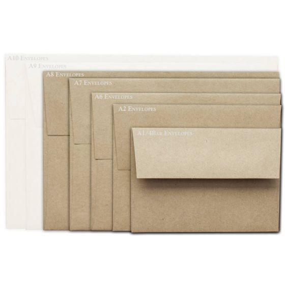Brown Bag Envelopes - KRAFT - A8 Envelopes - 800 PK [DFS-48]
