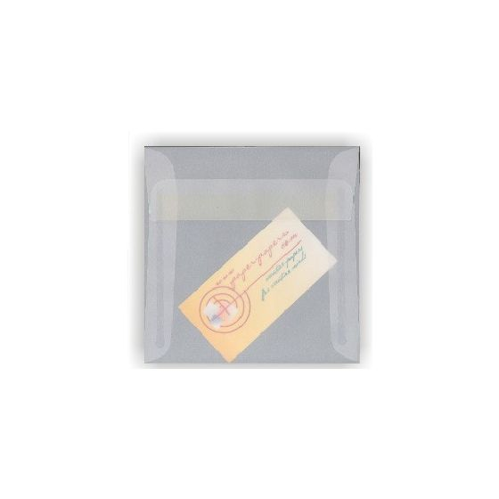 White Translucent (Vellum) - 6 in Square ENVELOPES - 25 PK [DFS]