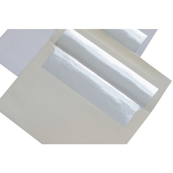 [Clearance] A9 FOIL LINED Envelopes - SOFT White (80T) Envelopes with Silver Foil Lining - 250 PK