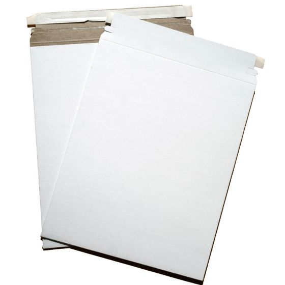 Cardboard Envelopes - WHITE Paperboard Mailers (9-x-11.5) - 100 PK [DFS-48]