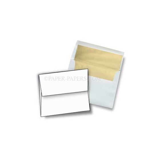 A6 FOIL LINED Envelopes - Ultrawhite 70T Envelopes with Gold Foil Lining - 250 PK