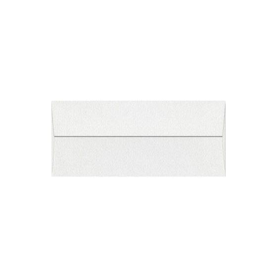 Neenah Classic CREST Solar White (80T/Stipple) - No. 10 Square Flap Envelopes (4.125-x-9.5) - 2500 PK [DFS-48]