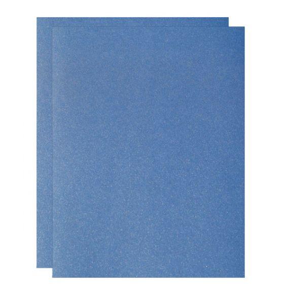 FAV Shimmer Blue Sodalite - 8.5 x 11 Card Stock Paper - 107lb Cover (290gsm) - 100 PK [DFS-48]