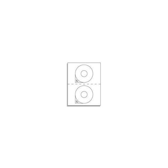 CD Labels - 2 UP Laser / Ink Label Sheets - 2 Labels per Sheet / 1000 Sheets