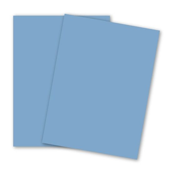 BASIS COLORS - 26 x 40 CARDSTOCK PAPER - Medium Blue - 80LB COVER
