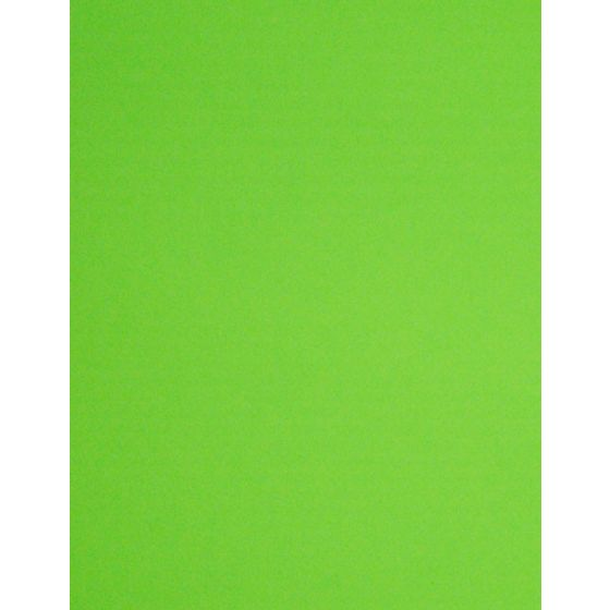 [Clearance] FLUORESCENT GREEN - 8.5X11 10PT 82C/223gsm - Litho Sheen Card Stock Paper - 100 PK
